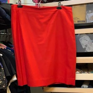 NWOT J. Crew red wool pencil skirt